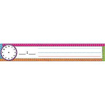 """Pocket Chart Einsätze, Planung/Satz Streifen Karten, 2"""" X 12"""", Sackleinen genäht, Packung mit 12"""