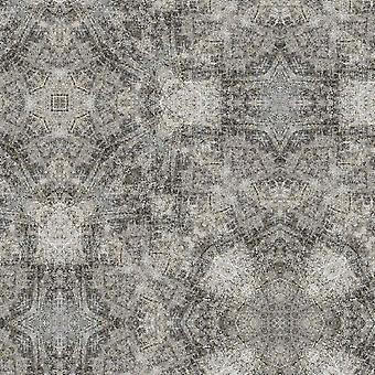 Tapete Impresso Multicolor de Escolha Moderna em Poliéster, Algodão, L100xP150 cm