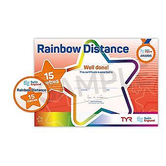 ASA Swim England Rainbow Distance Swimming Award - 15M