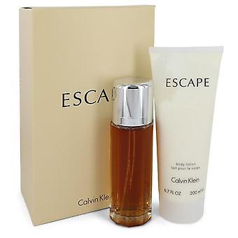 Flucht-Geschenk-Set von Calvin Klein 3.4 oz Eau De Parfum Spray + 6,7 oz Bodylotion