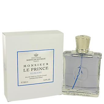 Monsieur Le Prince Elegant Eau De Parfum Spray By Marina De Bourbon 3.4 oz Eau De Parfum Spray