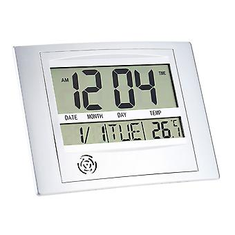 Battery Powered Digital Lcd Wall And Desk Clock