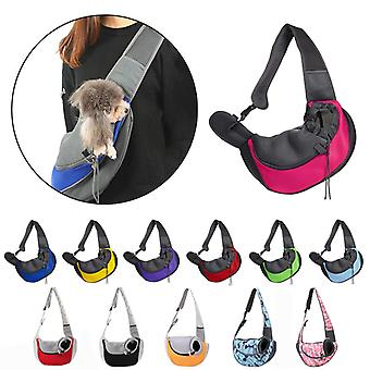 Slings Dog Carrier Comfort Shoulder Bag Outdoor Mesh Handbag Oxford Pet Travel Cats Tote Breathable Puppy Front Outdoor Cover