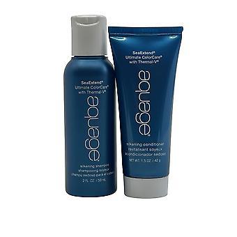 Aquage Silkening Shampoo 2 OZ & Conditioner 1.5 OZ Coarse & Curly Hair Set of 2