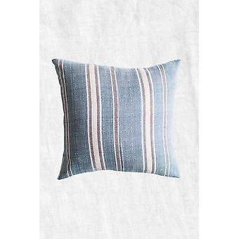 Gestreepte Poncho Duck Feather Throw Pillow + Case