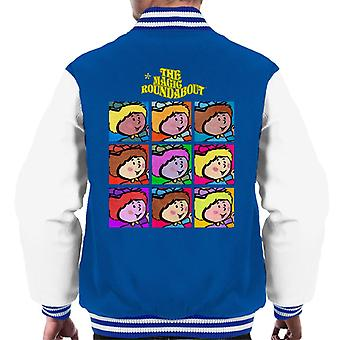 The Magic Roundabout Florence Pop Art Men's Varsity Jacket