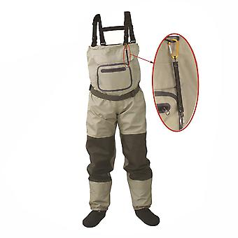 Fly Fishing Chest Waders, Breathable, Waterproof, Stocking Foot River Pants And