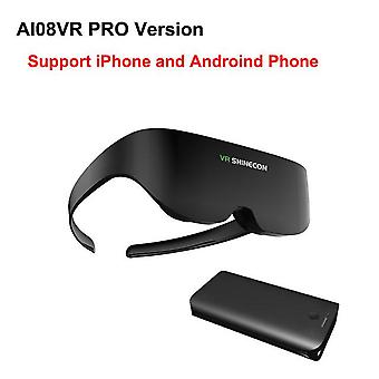 Shinecon vr سماعة ai08 الشاشة العملاقة نفس الشاشة ستيريو سينما 3d نظارات برو الواقع الافتراضي VR لهاتف iphone الروبوت الذكي