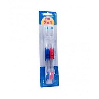 Kin Cepillo Medio Bimat Promoción 2 x 1