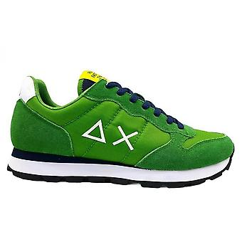 Sneaker Running Sun68 Tom Solid Suede/ Nylon Verde Prato Us21su09 Z31101