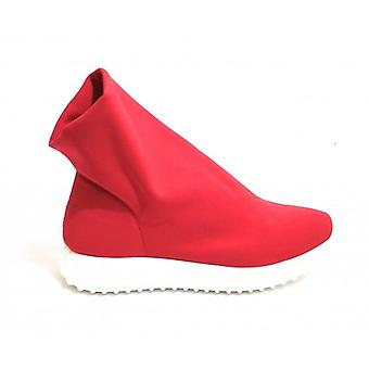 Shoes Woman Tony Wild Slipon High Fund Running Lycra Col. Red Ds18tw36