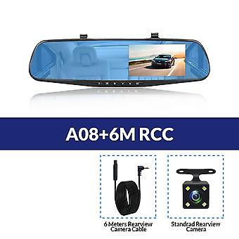 full hd bil dvr kamera, automatisk bakspeil, digital videoopptaker, dobbel