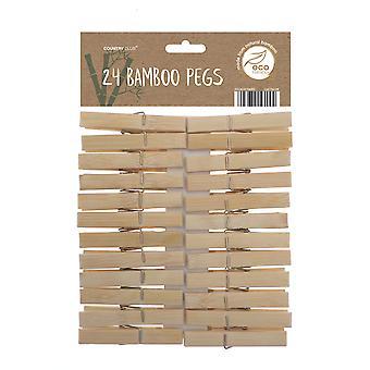 Country Club Bambus Pegs Pack von 24