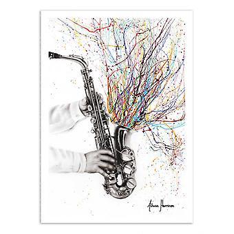 Art-Poster - The Jazz saxophone - Ashvin Harrison