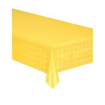 Geel damast papier rol tafelkleed 6 meter