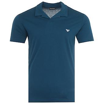 Emporio Armani Loungewear Polo Shirt - Dark Teal