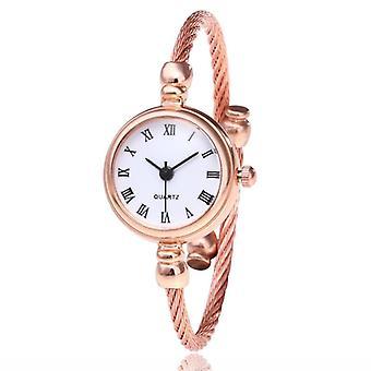Stainless Steel- Vintage Casual, Quartz Bracelet, Analog Wrist Watches