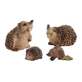 Copoz Barnsimulering Vilda Igelkott Djurmodell Vetenskapsutbildning Kognition Jungle Hedgehog Desktop Handgjord Leksak 3st / 4st