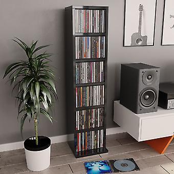 vidaXL CD шкаф глянцевый серый 21x20x88 см ДСП