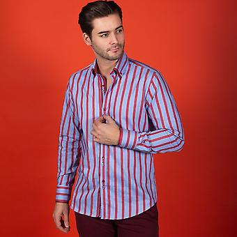 NON-DISCOUNTED / SALE ITEM Double Collar Stripe Shirt