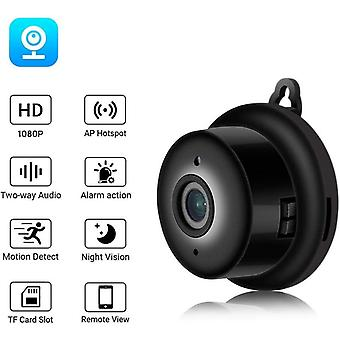 Mini Spy Camera Recorder, Full HD 1080P Magnetic Spy Cam Wireless Nanny Hidden Camera with Motion Detection and Night Vision, Indoor / Outdoor Micro Surveillance Camera (black)
