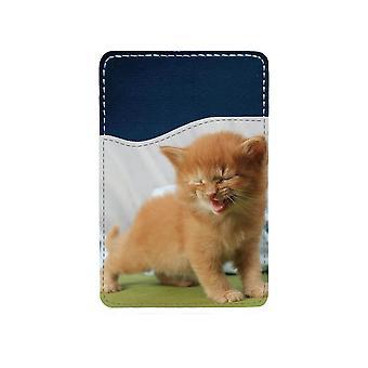 Skrattande Katt Självhäftande Korthållare För Mobiltelefon
