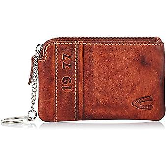 camel active, Melbourne, men's key chain, real leather, 2 rings, brown, 11.5 x 1 x 8 cm