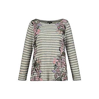 ULLA POPKEN Ringelshirt T-Shirt, Grey (Light Grey-Melange 75124013), 56 Woman