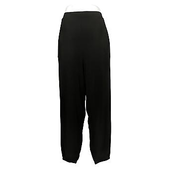 Lisa Rinna Collection Women's Pants Knit Cropped Jogger Black A341719