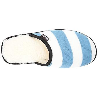 MUK LUKS Mens Game Day Scuffs Fabric Closed Toe Slip On Slippers