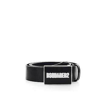 Dsquared2 الحزام الأسود مع الشعار