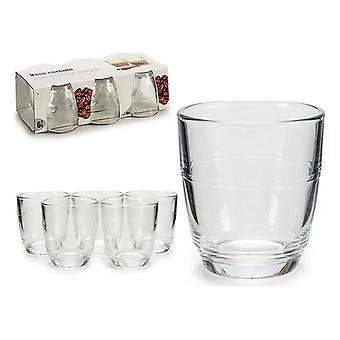 Uppsättning glas Vivalto Transparent Crystal (90 ml) (6 stycken) (12 x 7 x 22 cm)