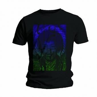 Jimi Hendrix Swirly Text Mens Black T Shirt: Medium