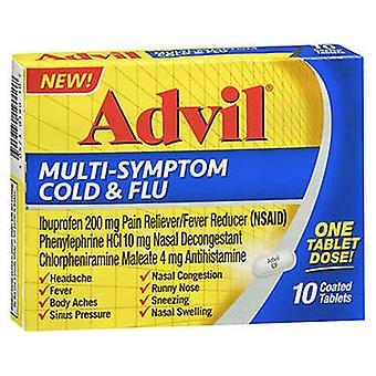 Advil Advil Multi-Symptom Cold & Flu Coated Tablets, 10 Tabs