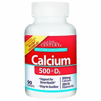 القرن الحادي والعشرين الكالسيوم زائد فيتامين D3, 500mg, 90 علامات التبويب