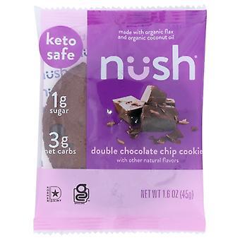 Nush Bar Dbl Choc Chip Cookie, Prípad 10 X 1,6 Oz