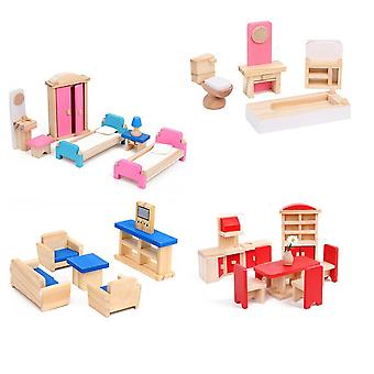 5 σύνολο των μίνι επίπλων σπιτιών μικροσκοπικά έπιπλα ξύλινα έπιπλα μοντέλο παιχνίδι μίνι διακόσμηση σπίτι διακόσμηση στολίδι