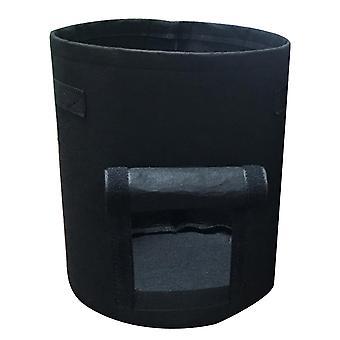 Black 35*40cm non-woven visual planting bag homi2573