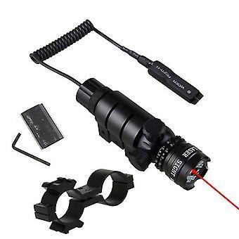 Taktinen punainen /vihreä laser näkö kivääri scope kytkin 11mm kisko mount hunt (punainen)