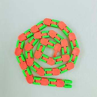 Colorful Puzzle Sensory Fidget Toys Wacky Tracks Snap and Click Toys Kids Autism Snake Puzzles