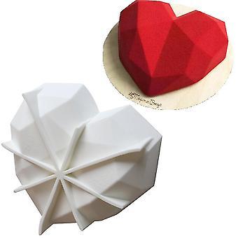 Heart-shaped Mousse Mold Baking Diy Heart Diamond Silicone Chocolate Mold Cake Fondant Tool