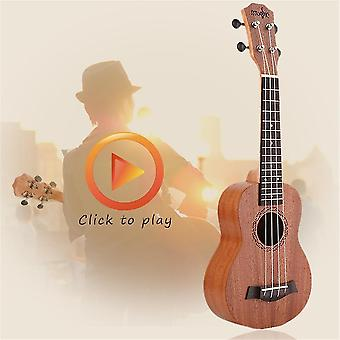 21 inch hoge kwaliteit muzikale houten materiaal instrument sopraan Ukulele