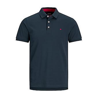 Män JACK & JONES Polo Shirt JJEPAULOS Krage Kortärmad Grundläggande Pique Bomull
