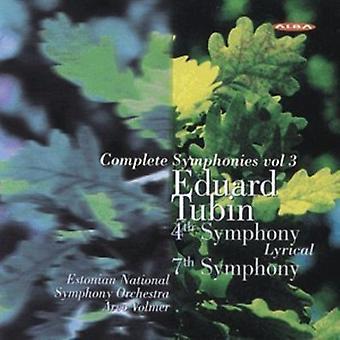 Tubin / Volmer / Estonian National So - Complete Symphonies 3 [CD] USA import