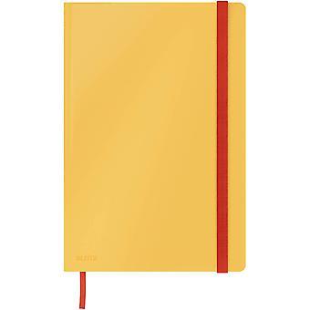 kariertes Hardcover Notizbuch in großem B5-Format, 80 Blatt, Warmes Gelb, Cosy-Serie, 44820019