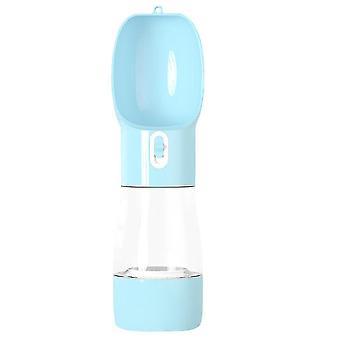 Kannettava lemmikkivesipullo ulkona vuoto todistettava juoma-annostelija syöttölaite (sininen)