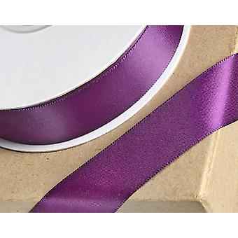 25m Plum 10mm Wide Satin Ribbon for Crafts