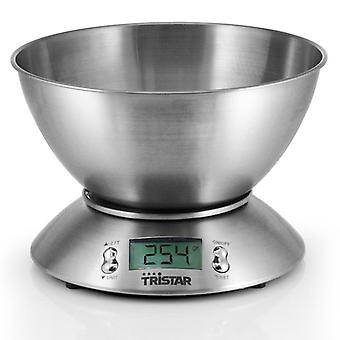 Kitchen scale Stainless steel with bowl