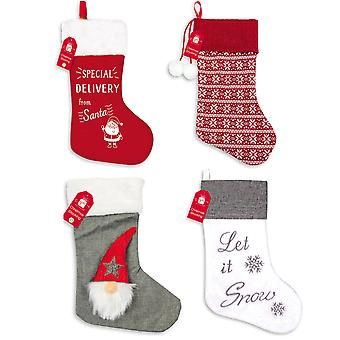 Traditional Christmas Gift Stocking Various Designs