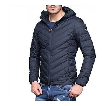 Sports Jacket Armani Jeans 8NPB09 PNEIZ Black Navy Nylon